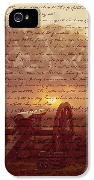 Gettysburg Address iPhone 5 Cases - Dawn At Gettysburg iPhone 5 Case by Gary Grayson