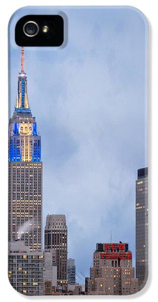 Hanukkah Card iPhone 5 Cases - Days of Hanukkah in New York City iPhone 5 Case by Eduard Moldoveanu