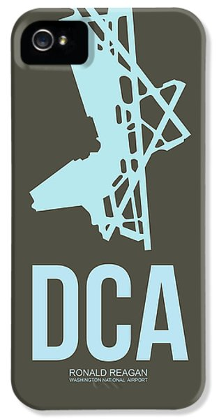 Washington iPhone 5 Cases - DCA Washington Airport Poster 1 iPhone 5 Case by Naxart Studio