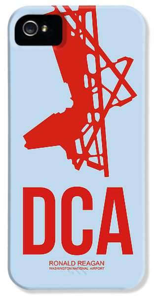 Washington iPhone 5 Cases - DCA Washington Airport Poster 2 iPhone 5 Case by Naxart Studio