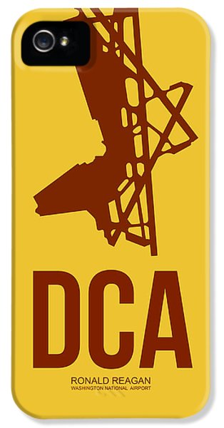 Washington iPhone 5 Cases - DCA Washington Airport Poster 3 iPhone 5 Case by Naxart Studio