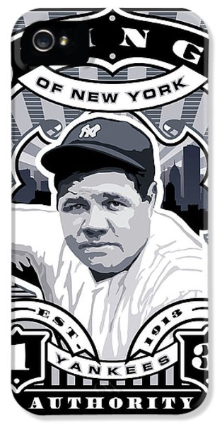 Dcla Babe Ruth Kings Of New York Stamp Artwork IPhone 5 / 5s Case by David Cook Los Angeles