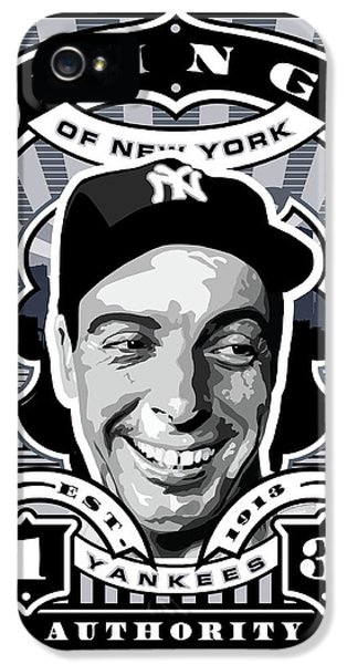 Dcla Joe Dimaggio Kings Of New York Stamp Artwork IPhone 5 / 5s Case by David Cook Los Angeles