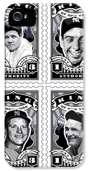 Dcla Kings Of New York Combo Stamp Artwork 1 IPhone 5 / 5s Case by David Cook Los Angeles