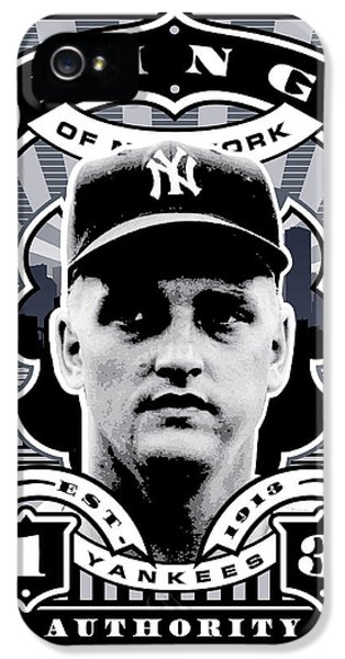 Dcla Roger Maris Kings Of New York Stamp Artwork IPhone 5 / 5s Case by David Cook Los Angeles
