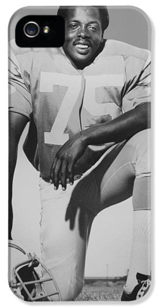National League iPhone 5 Cases - Deacon Jones iPhone 5 Case by Gianfranco Weiss