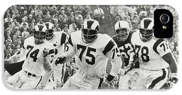 National League iPhone 5 Cases - Deacon Jones Poster iPhone 5 Case by Gianfranco Weiss