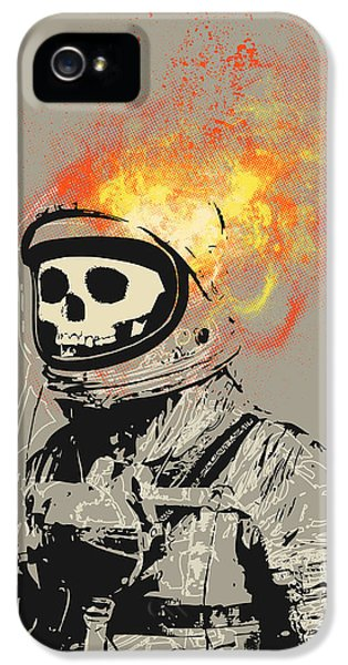 Ghost iPhone 5 Cases - Dead Astronaut iPhone 5 Case by Budi Satria Kwan