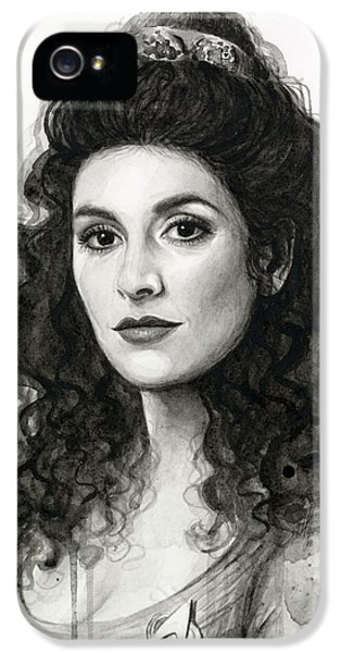 Sci Fi Art iPhone 5 Cases - Deanna Troi - Star Trek Fan Art iPhone 5 Case by Olga Shvartsur