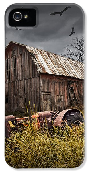 Circling iPhone 5 Cases - Death of a Small Midwest Farm iPhone 5 Case by Randall Nyhof