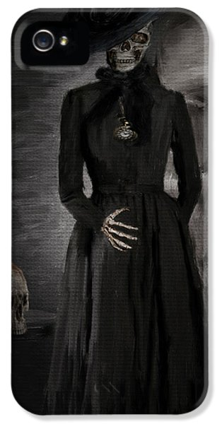 Grim Reaper iPhone 5 Cases - Deathly Grace iPhone 5 Case by Lourry Legarde