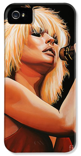 Plastic iPhone 5 Cases - Deborah Harry or Blondie 2 iPhone 5 Case by Paul  Meijering