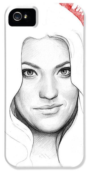 Dexter Morgan iPhone 5 Cases - Debra Morgan Portrait - DEXTER iPhone 5 Case by Olga Shvartsur