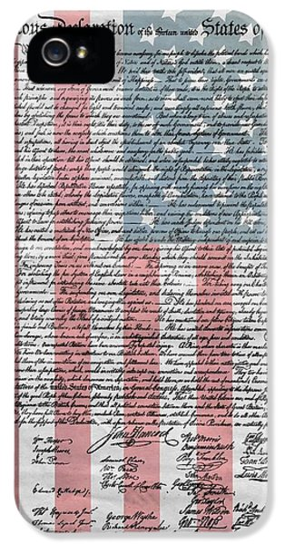 Declaration iPhone 5 Cases - Declaration Of Independence iPhone 5 Case by Dan Sproul
