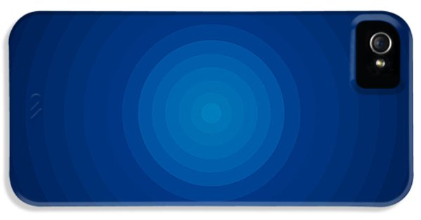 Disc iPhone 5 Cases - Deep Blue Circles iPhone 5 Case by Frank Tschakert
