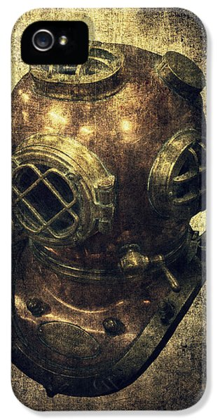 Commercial iPhone 5 Cases - Deep Sea Diving Helmet iPhone 5 Case by Daniel Hagerman