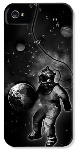 Suit iPhone 5 Cases - Deep Sea Space Diver iPhone 5 Case by Nicklas Gustafsson