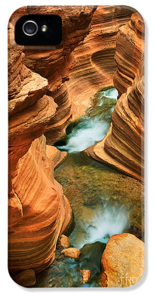 Desolate iPhone 5 Cases - Deer Creek Slot iPhone 5 Case by Inge Johnsson