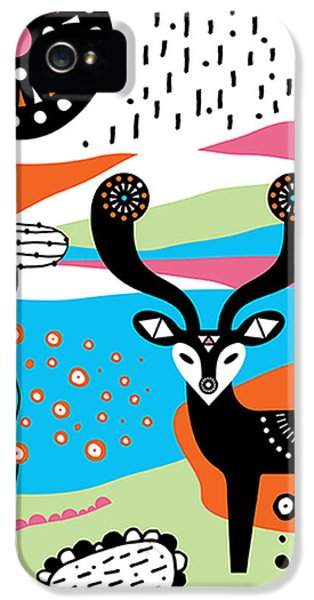 Tangerine iPhone 5 Cases - Deery Me iPhone 5 Case by Susan Claire