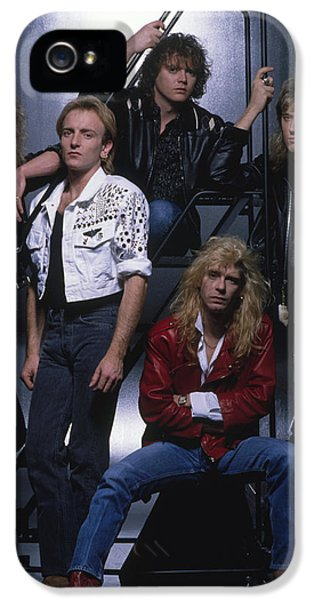 Def Leppard - Group Stairs 1987 IPhone 5 / 5s Case by Epic Rights