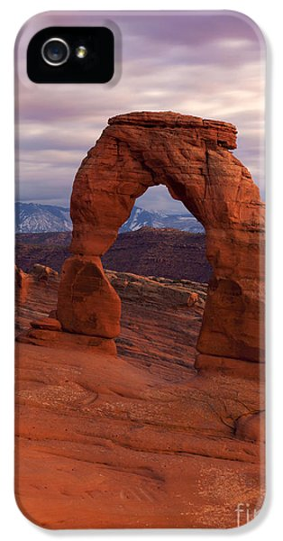 Delicate iPhone 5 Cases - Delicate Arch Dusk iPhone 5 Case by Mike Dawson