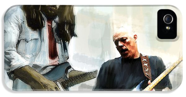 Main Street iPhone 5 Cases - Delicate Sound of Brilliance IV  David Gilmour iPhone 5 Case by Iconic Images Art Gallery David Pucciarelli