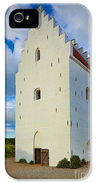 Danish iPhone 5 Cases - Den Tilsandede Kirke Steeple iPhone 5 Case by Inge Johnsson