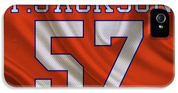 Jackson 5 iPhone 5 Cases - Denver Broncos Tom Jackson iPhone 5 Case by Joe Hamilton