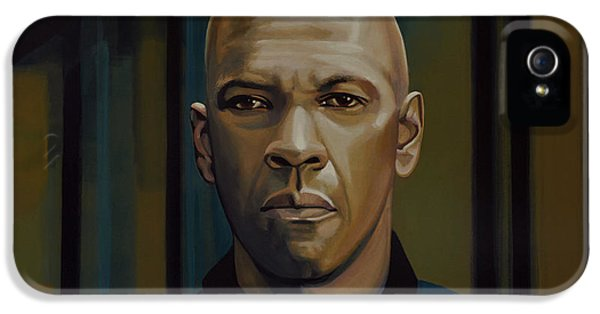Thriller iPhone 5 Cases - Denzel Washington The Equalizer iPhone 5 Case by Paul Meijering