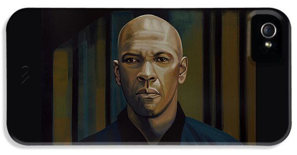 Denzel Washington In The Equalizer Painting IPhone 5 / 5s Case by Paul Meijering