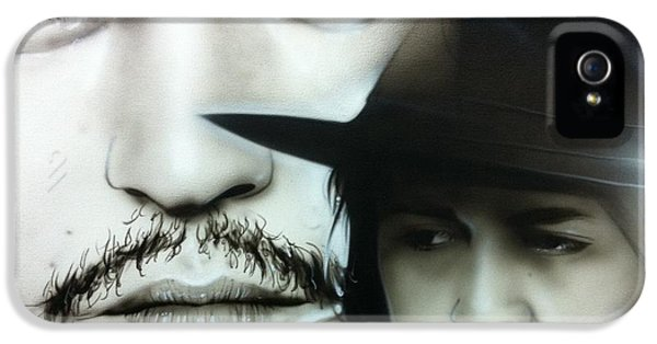 Johnny Depp - ' Depp ' IPhone 5 / 5s Case by Christian Chapman Art