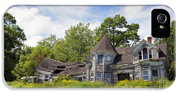 Haunted Houses iPhone 5 Cases - Derelict house iPhone 5 Case by Jane Rix