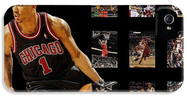 Chicago Bulls iPhone 5 Cases - Derrick Rose iPhone 5 Case by Joe Hamilton