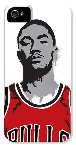 Pippen iPhone 5 Cases - Derrick Rose iPhone 5 Case by Mike Maher