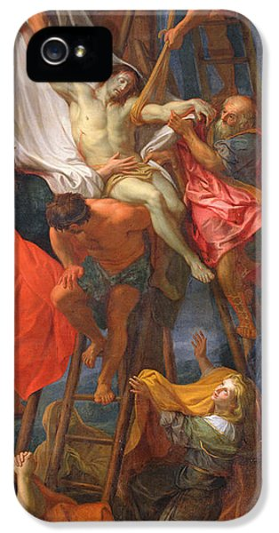 Son Of God iPhone 5 Cases - Descent from the Cross iPhone 5 Case by Charles Le Brun