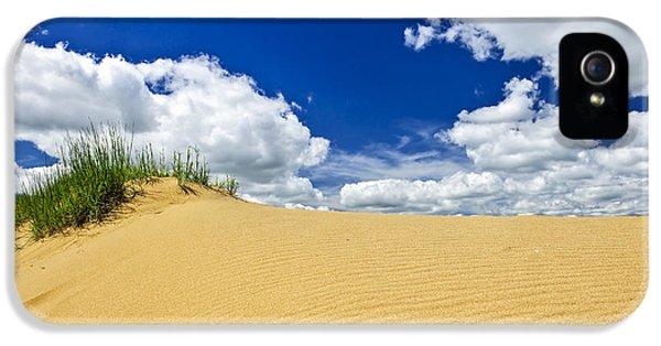 Sand iPhone 5 Cases - Desert landscape in Manitoba iPhone 5 Case by Elena Elisseeva