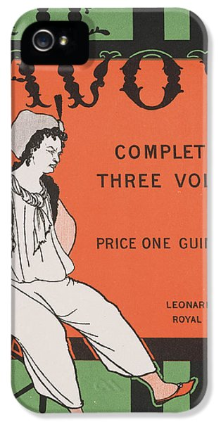 Fin De Siecle iPhone 5 Cases - Design for the front cover of The Savoy Complete in Three Volumes iPhone 5 Case by Aubrey Beardsley