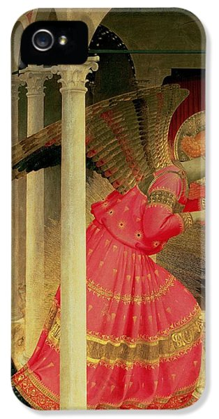Archangel iPhone 5 Cases - Detail from The Annunciation showing the Angel Gabriel iPhone 5 Case by Fra Angelico