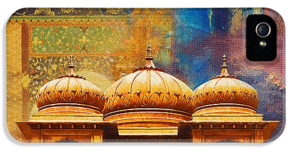 Pakistan iPhone 5 Cases - Detail of Mohatta Palace iPhone 5 Case by Catf