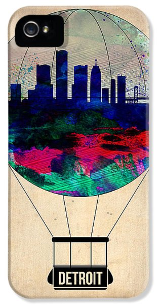 Balloon iPhone 5 Cases - Detroit Air Balloon iPhone 5 Case by Naxart Studio