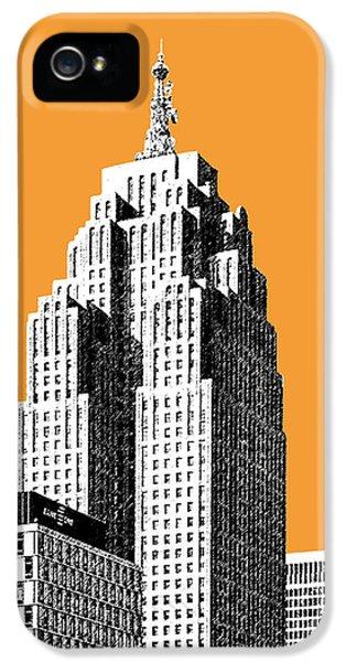 Detroit Skyline 2 - Orange IPhone 5 / 5s Case by DB Artist
