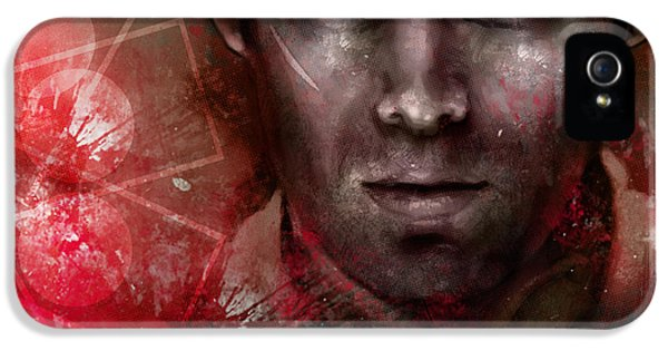 Dexter iPhone 5 Cases - Dexter Morgan iPhone 5 Case by Barry Sachs