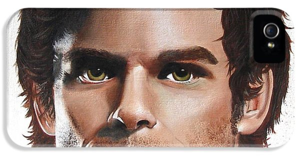 Dexter Morgan iPhone 5 Cases - Dexter iPhone 5 Case by Oddball Art Co by Lizzy Love