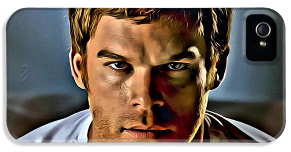 Michael C Hall iPhone 5 Cases - Dexter Portrait iPhone 5 Case by Florian Rodarte