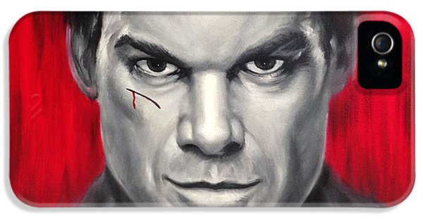 Dexter Prints iPhone 5 Cases - Dexter Serial Killer iPhone 5 Case by Travis Knight