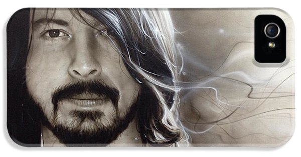 Dave Grohl iPhone 5 Cases - d.g. iPhone 5 Case by Christian Chapman Art
