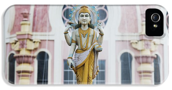 Waterdrop iPhone 5 Cases - Dhanvantari Fountain Statue Puttaparthi India iPhone 5 Case by Tim Gainey