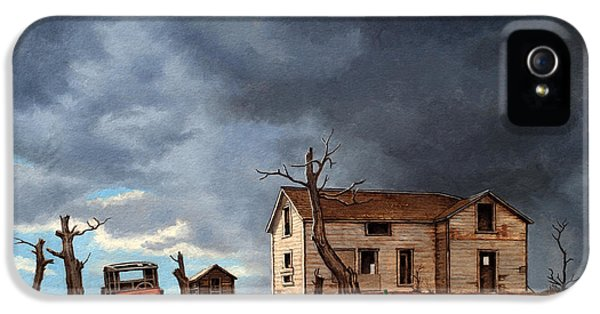 Desolate iPhone 5 Cases - Different Day at the Homestead iPhone 5 Case by Paul Krapf