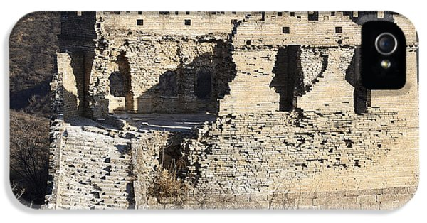 Nl iPhone 5 Cases - Dilapidated Watchtower on the Great Wall of China iPhone 5 Case by Brendan Reals