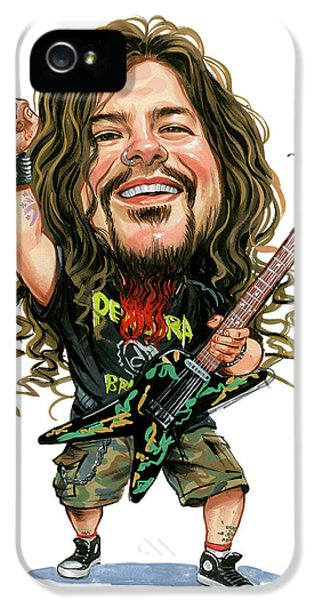 Laughing iPhone 5 Cases - Dimebag Darrell iPhone 5 Case by Art